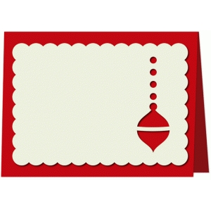 christmas ornament place card