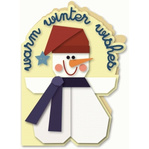 snow buddy snowman shaped 5x7 greeting card