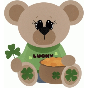 bear w pot of gold st. patricks