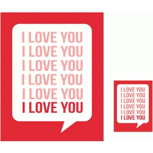 i love you 3x4 and 8x10 print & cut quote cards
