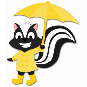 rainy day skunk