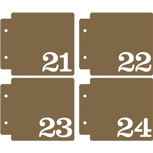 numbered mini album 21-24