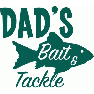 customizable bait & tackle vinyl sign