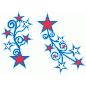 vertical star flourish
