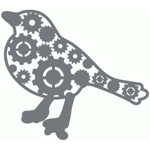 steampunk cog bird embellishment