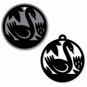 swan tag and ornament set