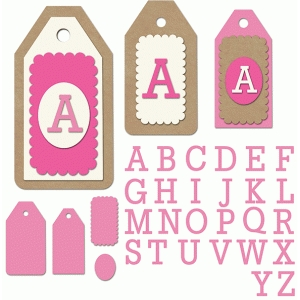 happy layered alpha tag set
