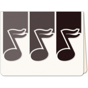 music note trio a6 card
