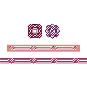 borders, decorations, geometric design