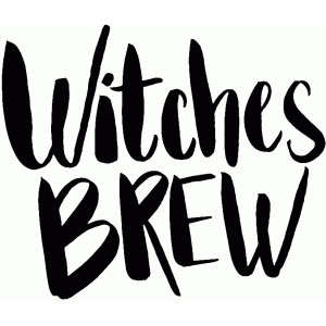 witches brew halloween lettering quote