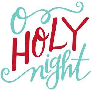 o holy night handlettered