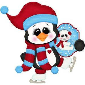 christmas gift tag penguin