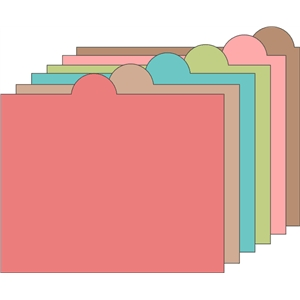 tabbed folder file set 2