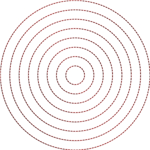 stitching templates - nested circles (inch)