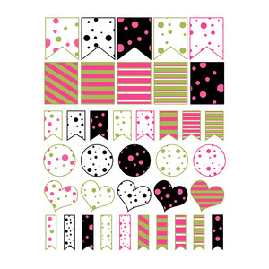 polka dot stickers