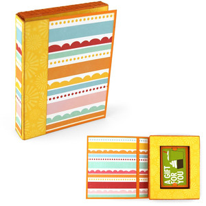 accordion book box gift card holder