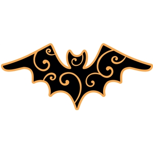 2 layer swirly halloween batbat