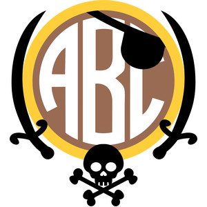 pirate monogram