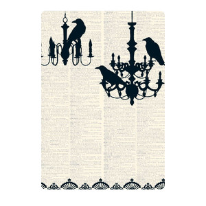 halloween damask card