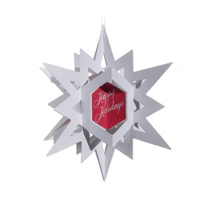 3d christmas star ornament/card