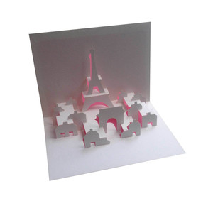 paris skyline popup card