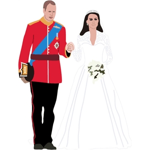 royal wedding couple pc
