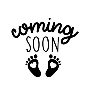 coming soon baby feet