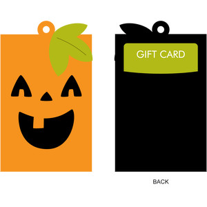 pumpkin gift card holder + gift tag