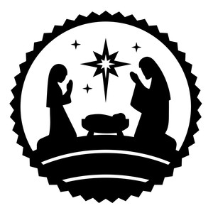 nativity circle jesus