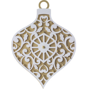 christmas flourish ornament