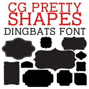 cg pretty shapes dingbats