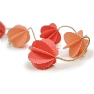 scalloped globe garland