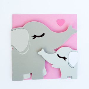 mommy and me menagerie - elephant card
