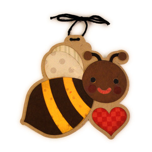 bumblebee heart ornament