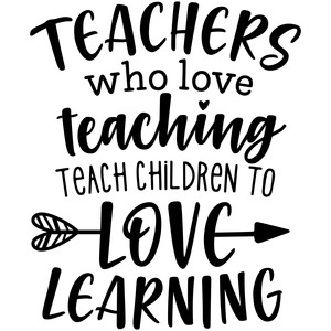 Silhouette Design Store - View Design #273524: teachers who love ...