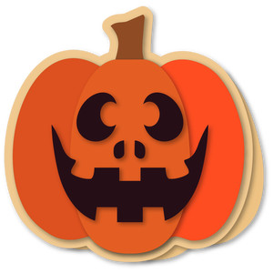 pumpkin grin shaped card