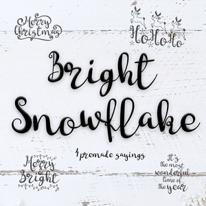 bright snowflakes font