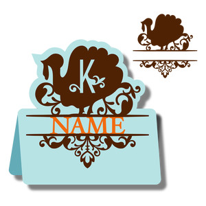 monogram place card & nameplate - turkey k