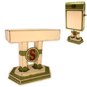 santa mail 3d box pedestal