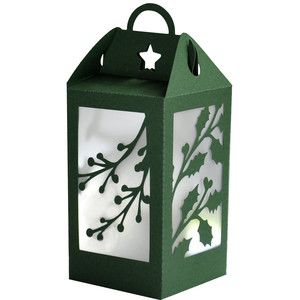christmas holly berry lantern