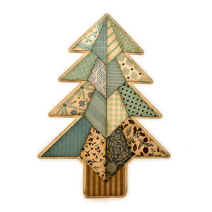 evergreen tree shaped stand up card
