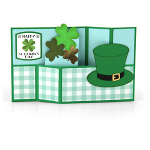 wiper card st. patrick's hat