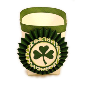 cup fries 3d rosette shamrock
