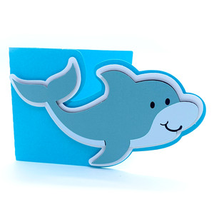 baby dolphin card