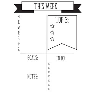 this week planner page