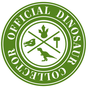 official dinosaur collector label