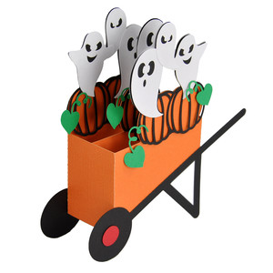 3d ghosties wheelbarrow card in a box