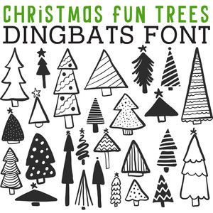 cg christmas fun trees dingbats