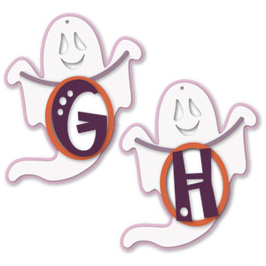 ghost tag g or h letter card