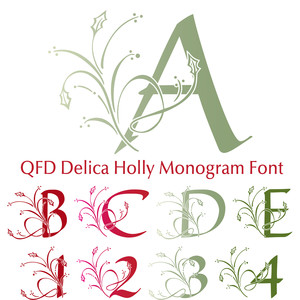 qfd delica holly monogram font
